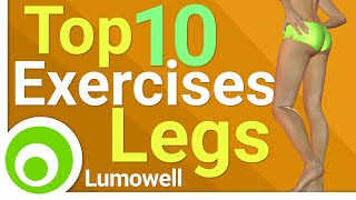 Top 10 Exercises - Top 10 Exercises For Legs. Best Exercises to Tone and Lose Leg Fat