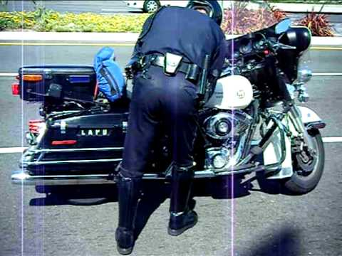 L A P D Motorcycle Cop Youtube
