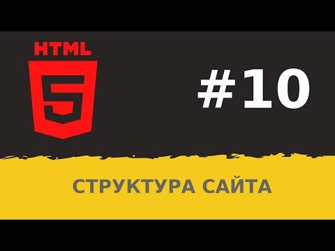 #10.  Уроки HTML. Структура сайта в HTML5