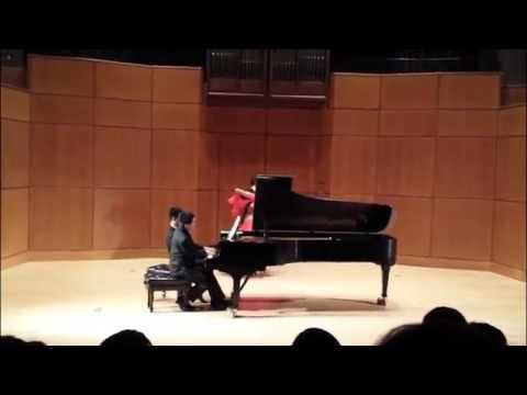 Meek-Salvosa duo plays Barber's Hesitation-Tango with ballroom dancers