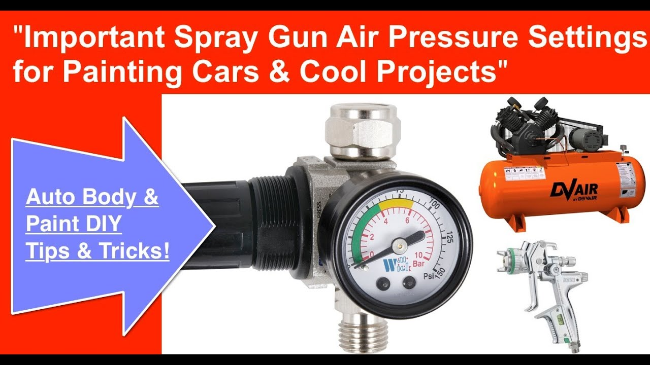 spray gun air pressure required to spray paint a car youtube. Black Bedroom Furniture Sets. Home Design Ideas