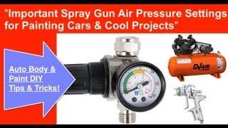 Spray Gun Air Pressure Required To Spray Paint a Car