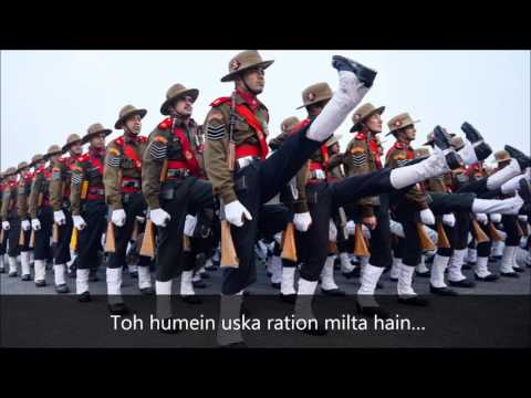 Badluram Ka Badan original song – Assam Regiment Marching Song with lyric