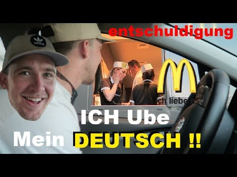 AMERICAN tries to speak GERMAN at McDonalds! Again!