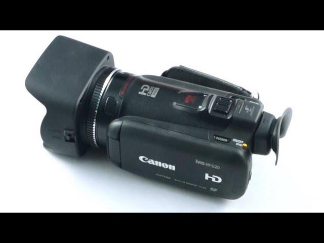 Unboxing the Canon HF G20 (VIXIA / iVIS) - Cursed4Eva.com