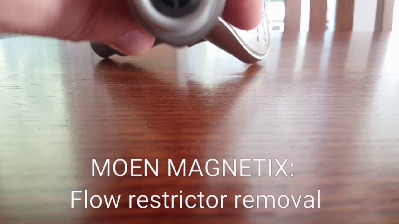 How To Remove The Moen Magnetix Flow Restrictor Youtube