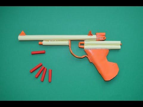 Como hacer Pistola de Papel que Dispare. juguete de papel