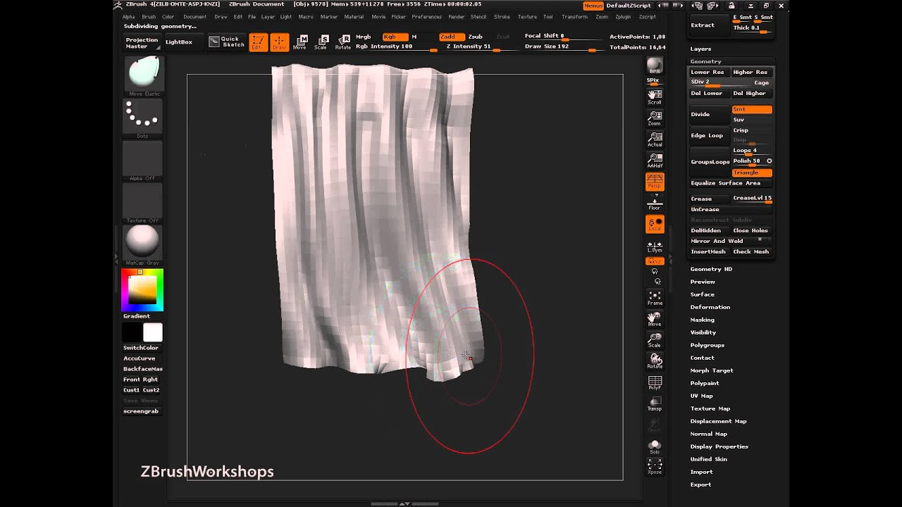 Sculpting A Cape With ZBrush