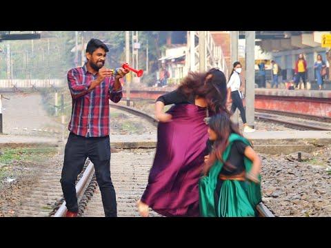 Train Horn Prank on Cute Girls 😳😳Part-3 | PrankBuzz