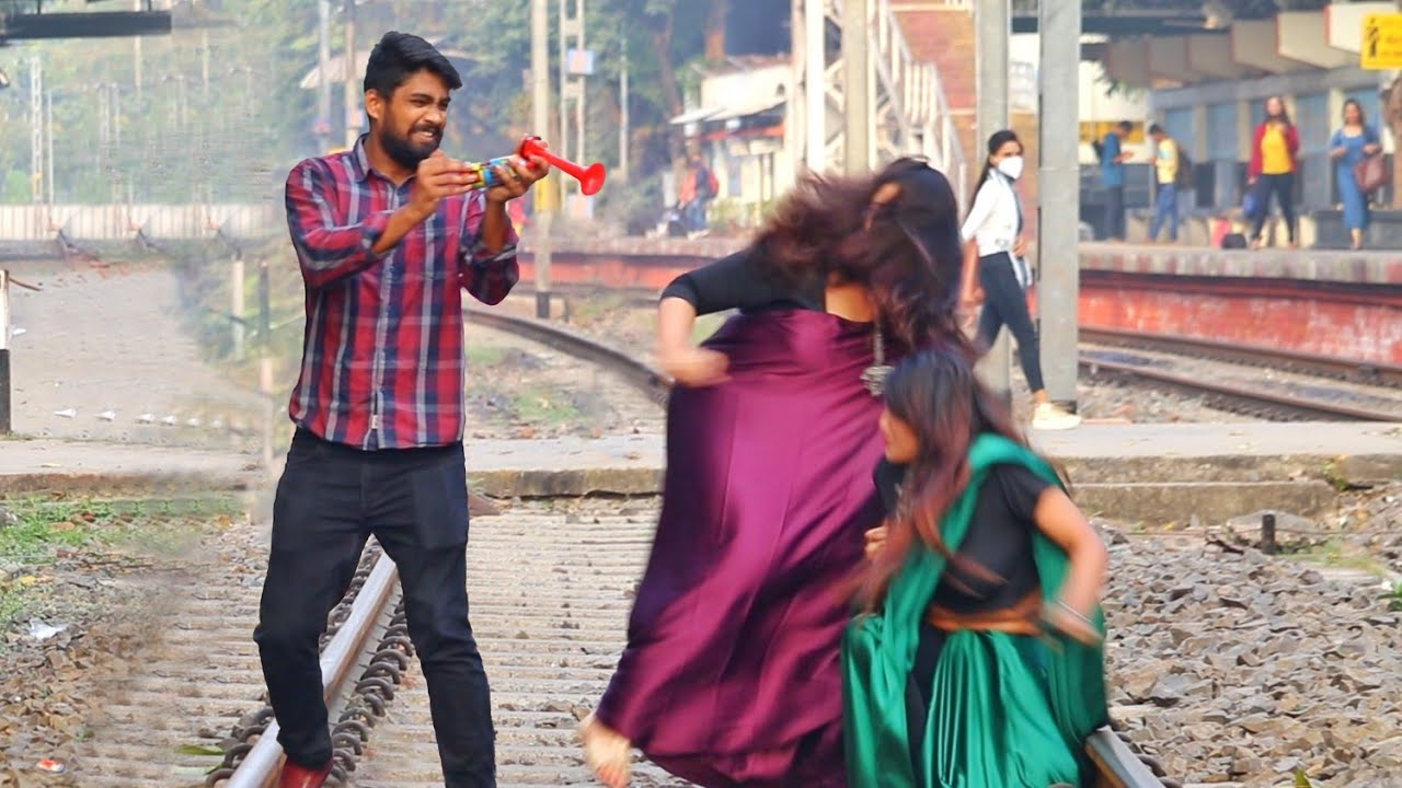 Train Horn Prank on Cute Girls 😳😳Part-3 | PrankBuzz