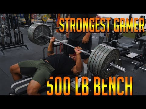500Lb Bench Press By Strongest Gamer Alive | Larry Wheels Jr