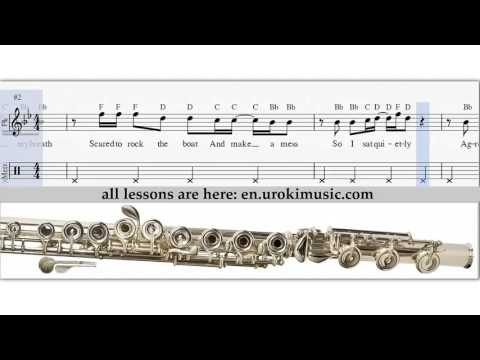 How to Play Flute Katy Perry Roar Melody School Learn Class Course Tutorial Sheet Music Tabs