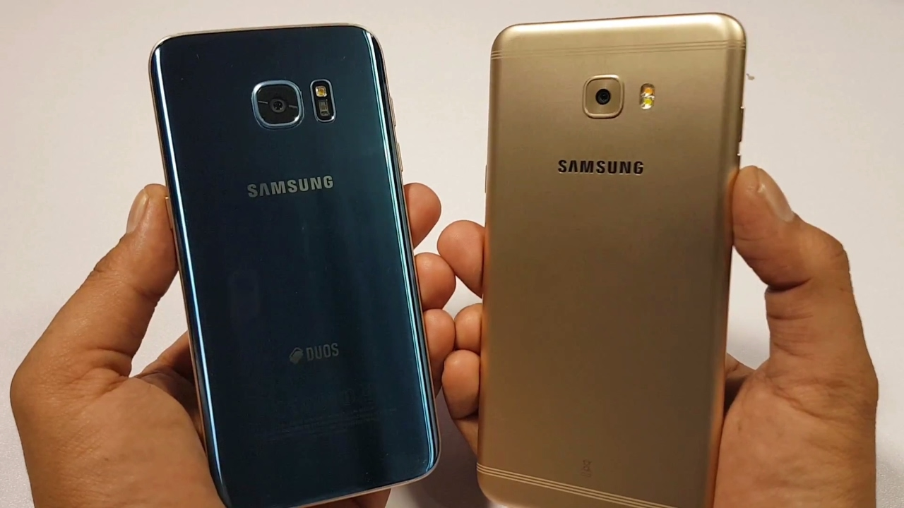 Galaxy S7 Edge vs Samsung Galaxy C7 Pro Speed Test [Urdu/Hindi]