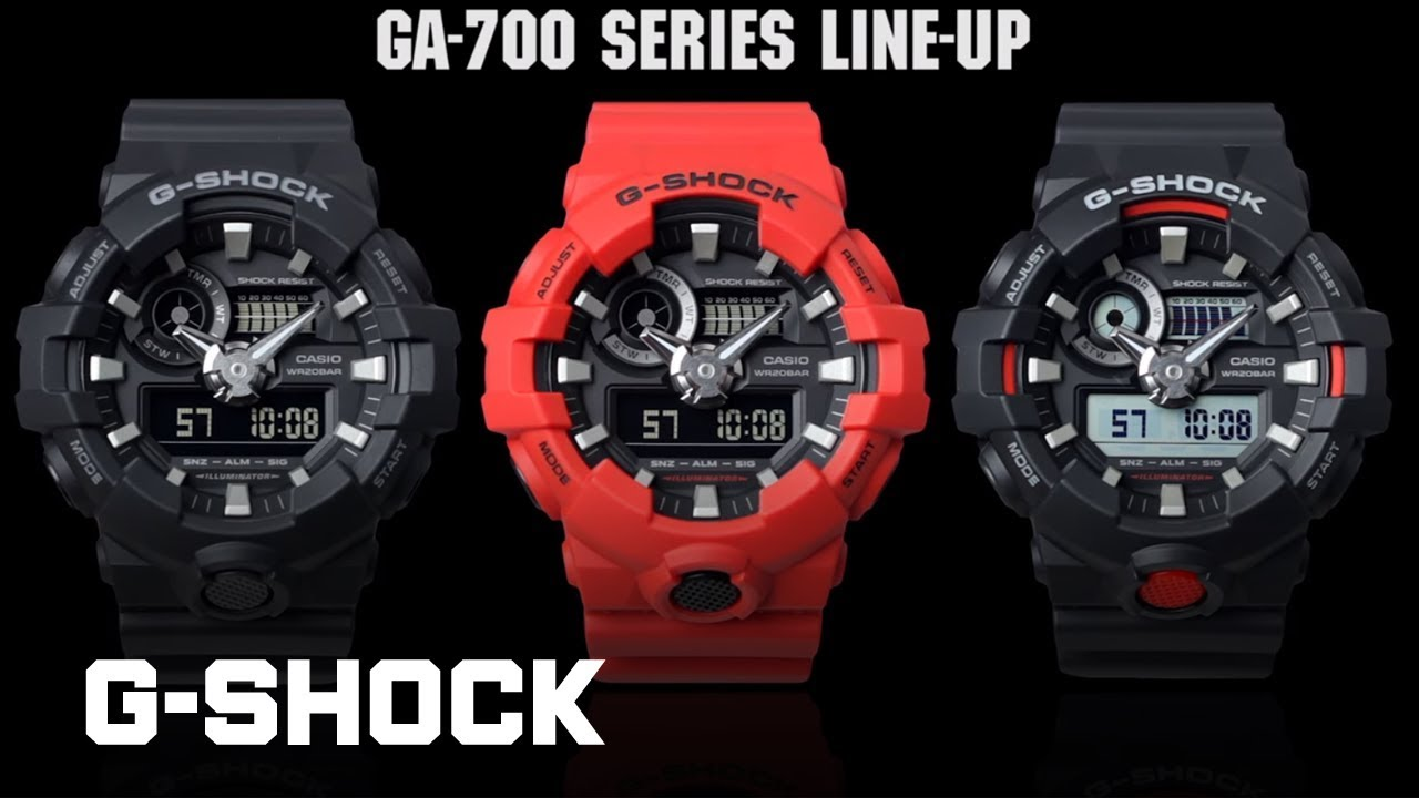 a6739acac155 CASIO G-SHOCK GA-700 product video - YouTube