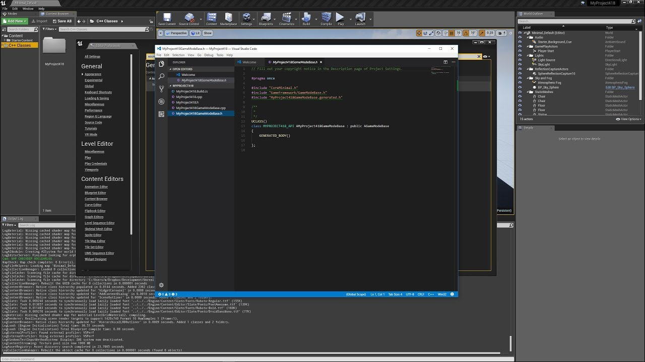 How to set set Visual Studio Code as your code editor in UE4 4 18