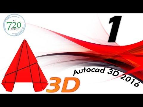 Curso Básico Autocad 3D 2016 Parte 1 - Tutorial para Principiantes - En Español