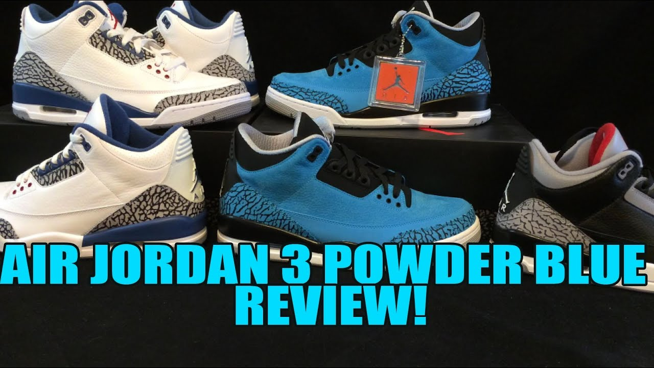 2014 Air Jordan 3 Powder Blue Review  Nice Quality IMO! - YouTube add5b6f36