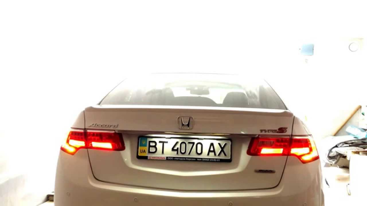 Honda Accord Acura Tsx Led Tail Lights Youtube