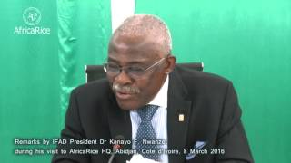 AfricaRice : Remarks by IFAD President Dr Kanayo F. Nwanze