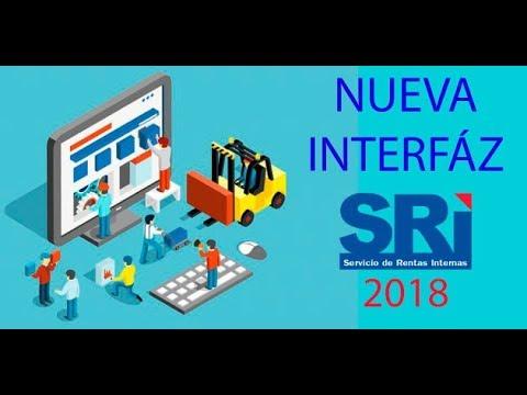 Nueva Interfaz de usuario del SRI para el 2018