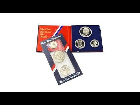 Uncirculated And Proof Secret Silver Bicentennial Set