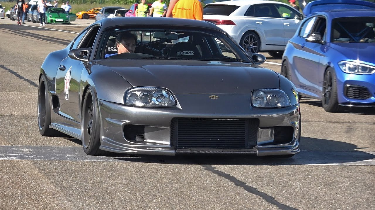 1200HP Toyota Supra Mk4 - Accelerations, Drag Race & Exhaust Sounds!