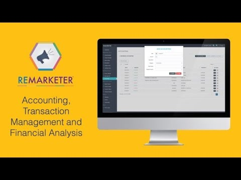 REMARKETER Training - Financial modules - Accounting, Transaction Management and Financial Analysis