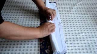 Barrado de tecido só com 1 costura (desvire e está pronto)