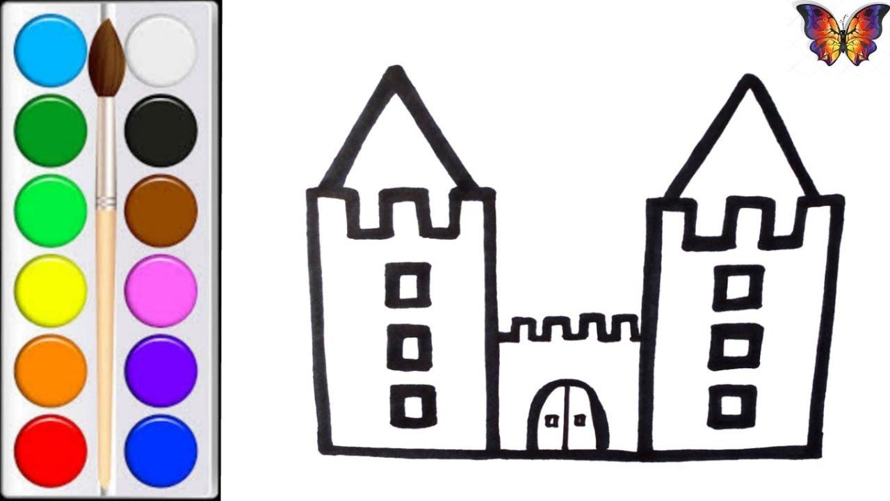 как нарисовать крепость мультик раскраска крепость для детей раскраски малышам