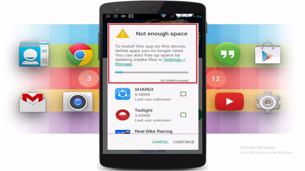 How To Fix Not Enough Space Error When Downloading App Form Playstore In  Android