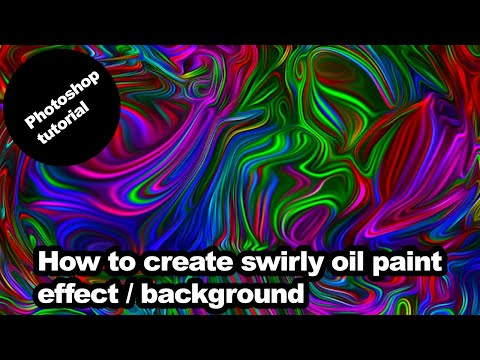 Create swirly oil paint effect in Photoshop tutorial thumbnail