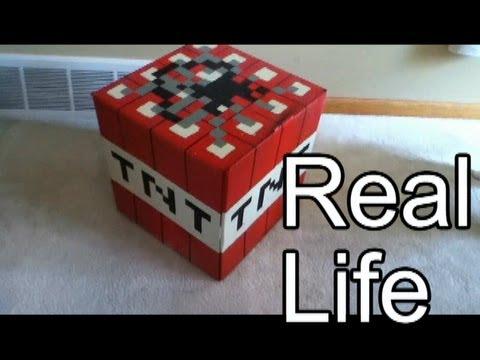 *REAL LIFE* Minecraft TNT Block! - Prop - LIFE-SIZE!!!