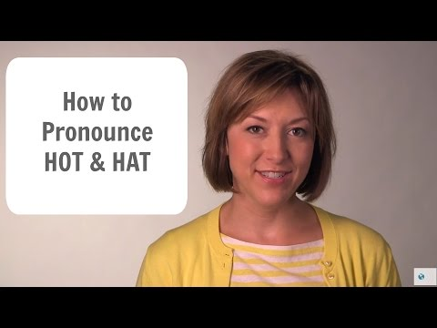 How to Pronounce HOT /hɑt/ & HAT /hæt/ - American English