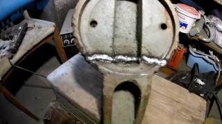 Сварка чугунных тисков (ремонт тисков)(, 2017-01-03T11:18:11.000Z)