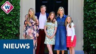 Koning Willem-Alexander, koningin Maxima en de prinsesjes op de foto - OMROEP WEST