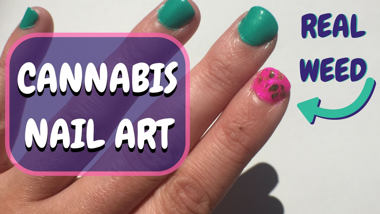 Diy real weed nail art tutorial the marijuana manicure youtube prinsesfo Image collections