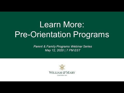 Learn More: Pre-Orientation Programs