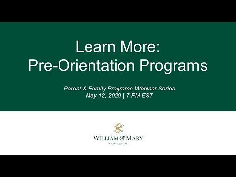 Learn More: Pre-Orientation Programs