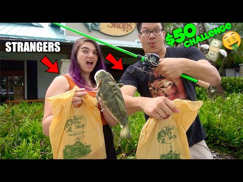 STRANGERS Pick Out My FISHING LURES! *$50 BASS PRO CHALLENGE*