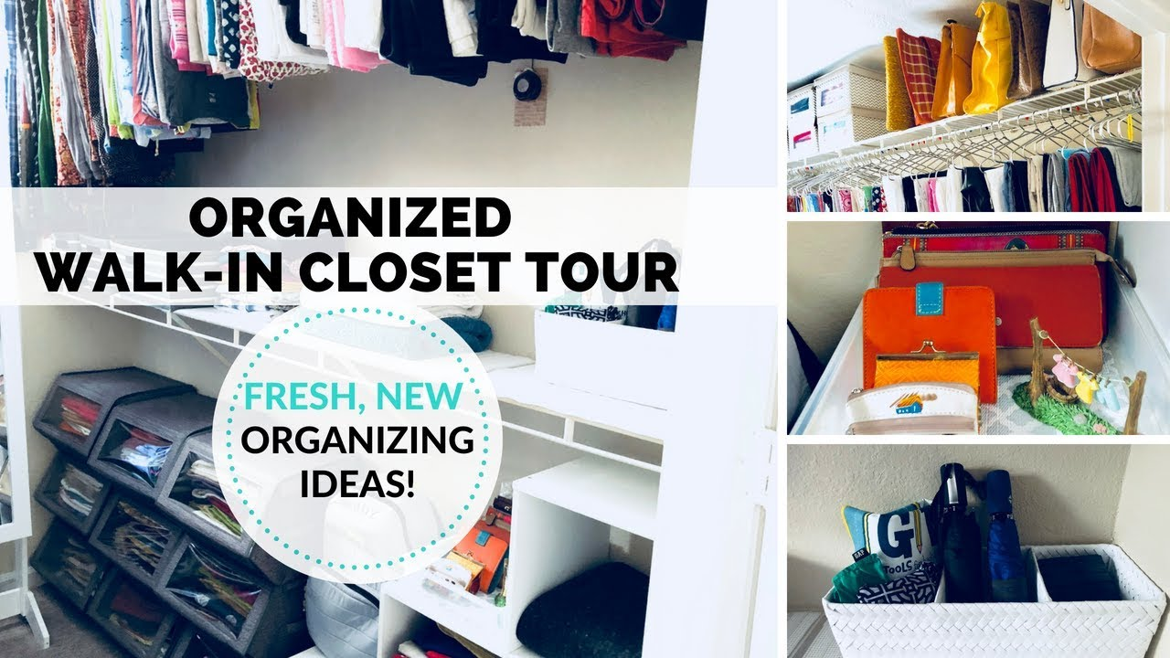 Walk In Closet Organization Ideas My Master Closet Organization Tour Small Walk In Closet Ideas Tips