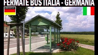 FERMATE BUS ITALIA - GERMANIA ( 2 mondi differenti )