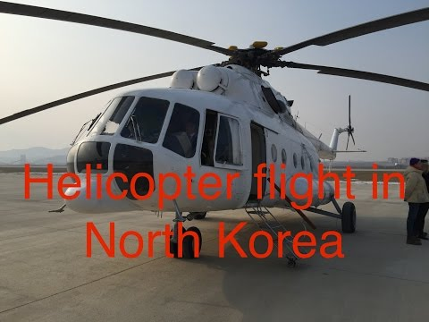 RARE: Helicopter flight over Pyongyang, North Korea in a Mil Mi-17
