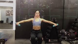 Упражнения с гантелями  | Подъем рук вперед с разводкой