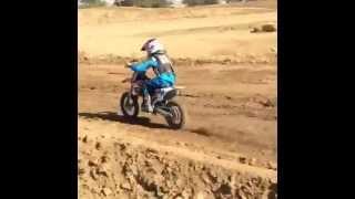 Ricky Racer #50 Railing a corner @ Perris Mx