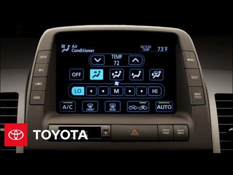 2009 Prius How-To: Set the Temperature   Toyota