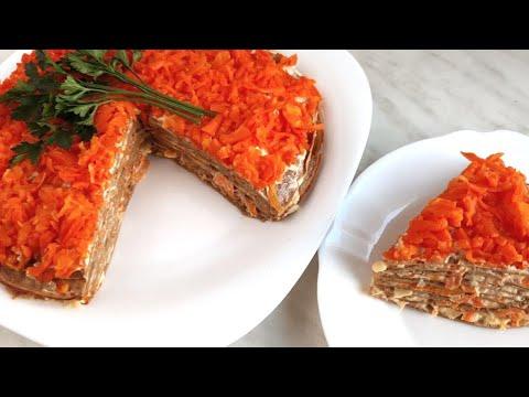 Нежный ПЕЧЕНОЧНЫЙ ТОРТ из куриной печени с морковью и луком. Как приготовить вкусный печеночный торт