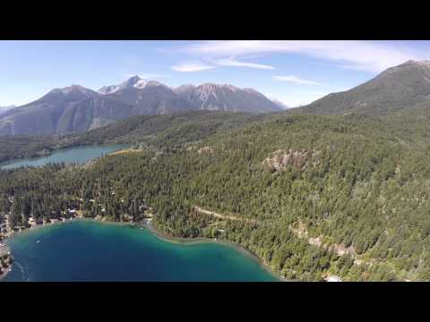 Gold Bridge, BC. British Columbia BRV.  Quadcopter Flight over the most Beautiful Lake on Earth