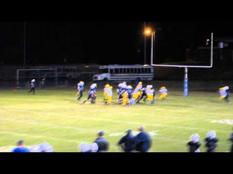 Grant two point conversion  - North Wilkes Middle School 10-18-2014