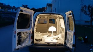 How To Build A Camper Van / Mobile Home In 20 Days ! *With subtitles!*