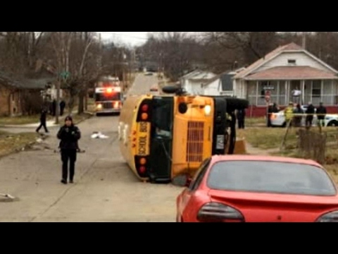 Van Crashes Into School Bus With 31 High School Students